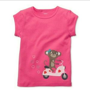 Carter's girls top with monkey on the bike